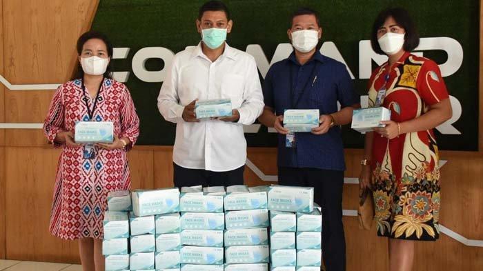 Kota Kediri Terima Bantuan Ribuan Masker Medis dari BCA, Akan Dipakai pada Operasi Penegakan Prokes