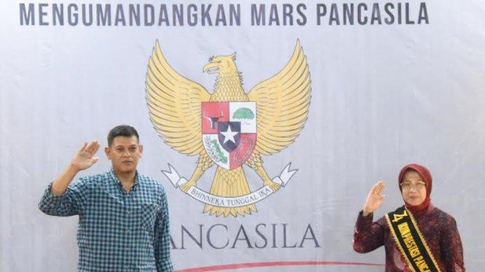 Kota Kediri Gelar Gerakan Kebangsaan Kumandangkan Mars Pancasila di Hari Lahir Pancasila