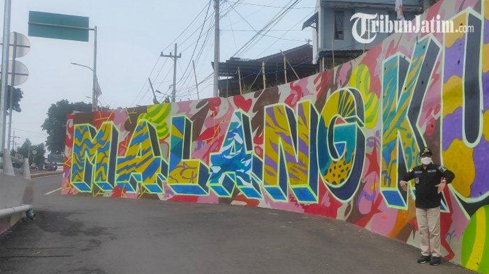 Wali Kota Malang Sebut Ada Pesan Moral pada Mural 'Malang Kucecwara' di Fly Over Kedungkandang