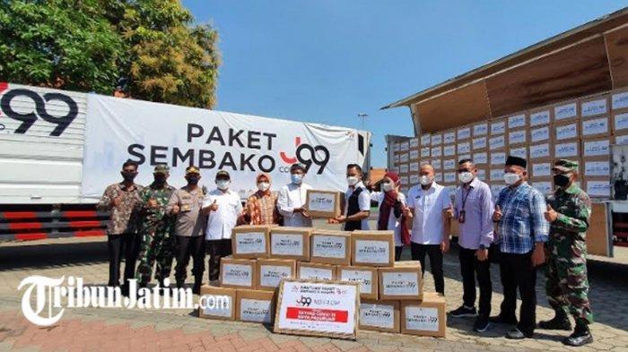 Paket Sembako Juragan 99 untuk Kota Pasuruan Diterima Gus Ipul, Siap Disalurkan By Name By Addres