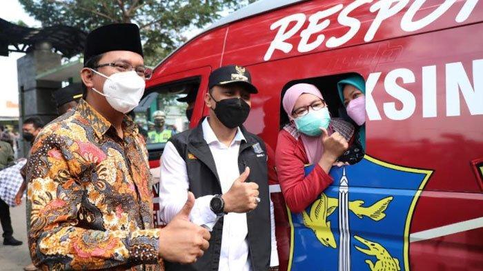 22 Mobil Vaksin Pemkot Surabaya Kelilingi 18 Kecamatan di Sidoarjo, Satu Mobil Bisa Layani 500 Orang