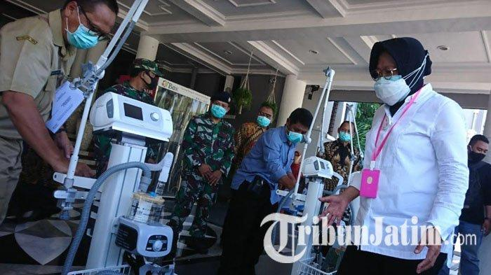 Wali Kota Risma Salurkan Sembilan Ventilator untuk Rumah Sakit di Surabaya Tangani Pasien Covid-19