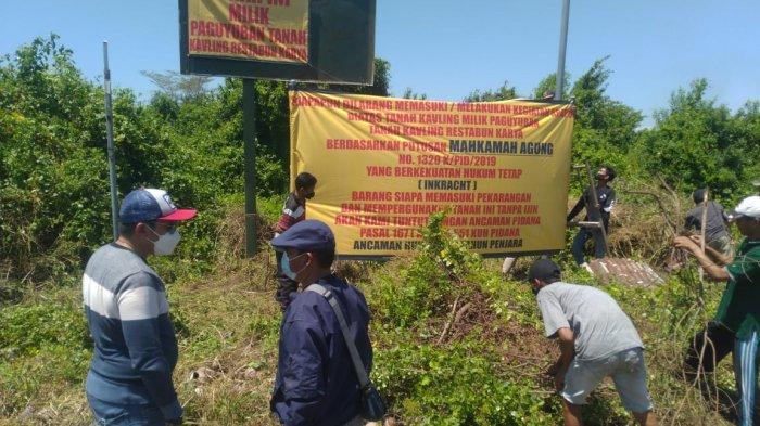 Lahan Milik Warga Gunung Anyar Masih Dijaga Preman, Libatkan Oknum Anggota TNI yang Kini Buron