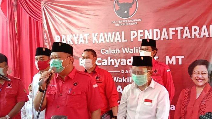 Hasto Tunjuk Whisnu Sakti Jadi Jenderal Perang PDIP di Pilwali Surabaya