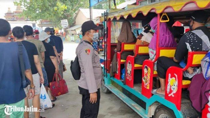 Polisi Batasi Pengunjung Pasir Putih Delegan, Pastikan Kegiatan Wisata Sesuai Protokol Kesehatan