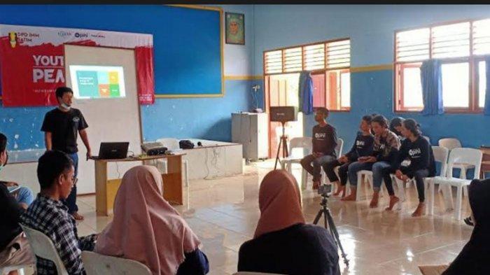 Kegiatan Youth Moderat & Peace Camp DPD IMM Jawa Timur di Panti Asuhan Muhammadiyah Karangasem, Sabtu-Minggu (27-28/3/2021).