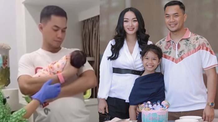 Zaskia Gotik Panik Sirajuddin Mahmud 'Kaku' Gendong Anaknya, Khawatir Leher Sang Bayi, 'Awas'