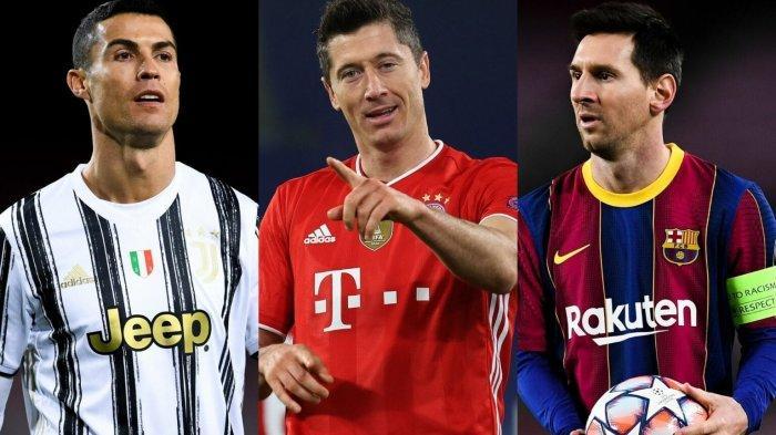 Skor Sepuluh Pemain Perburuan Sepatu Emas Eropa 2020/21, Termasuk Lewandowski, Messi, Ronaldo