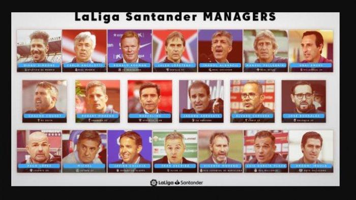 Inilah 20 Nama Pelatih Klub LaLiga Santander Musim Kompetisi 2021/22