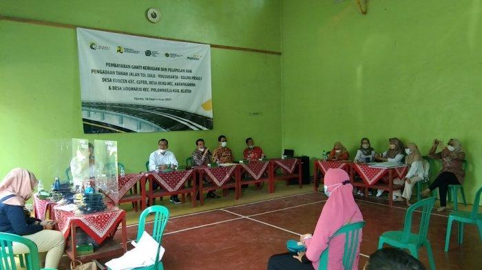 40 Warga Beku Klaten Terima Rp43 Miliar untuk Pembayaran UGR Tol Yogyakarta-Solo