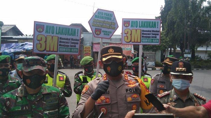 4.500 Masker Dibagikan oleh Tim Gabungan di Alun-alun Klaten