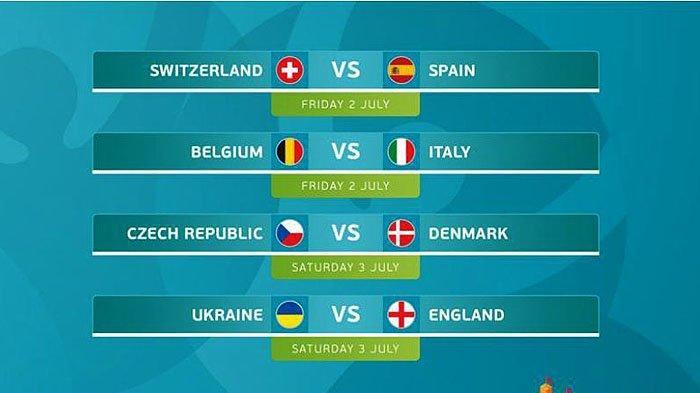 Inilah Hasil Pertandingan Euro Tadi Malam, Ada 8 Tim Lolos ke Perempat Final