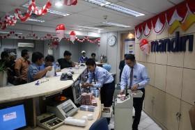 Transaksi di Cabang Bank Mandiri Tembus Rp4 Triliun per Hari Selama Lebaran