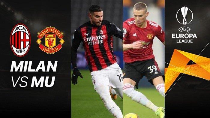 Kolase Ilustrasi - AC Milan vs Manchester United, Liga Eropa