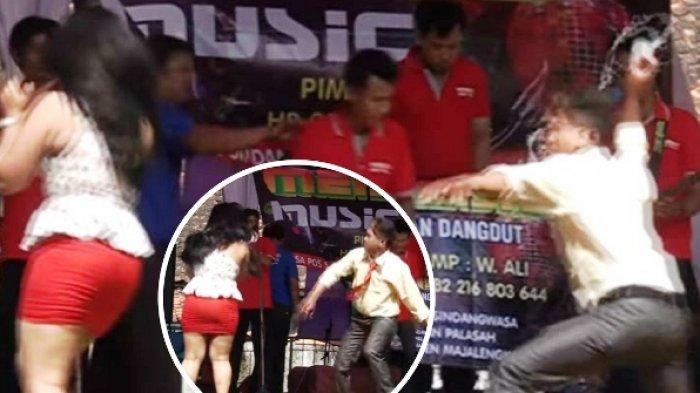 Biduan Dangdut 'Disiksa' di Panggung, Warganet : Gitu Amat Cari Duit !