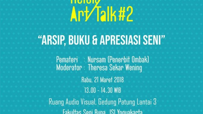 Agenda Yogya: Siang Ini, Kelola Art Talk #2 di ISI Yogyakarta