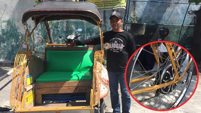 Inovasi Becak Tradisional Yogyakarta, Agus Modif Becak Kayuh Jadi Tenaga Listrik
