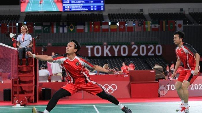 Langkah Ahsan/Hendra Terhenti di Babak Semi Final, Kalah Dua Gim Langsung dari Wakil Taiwan