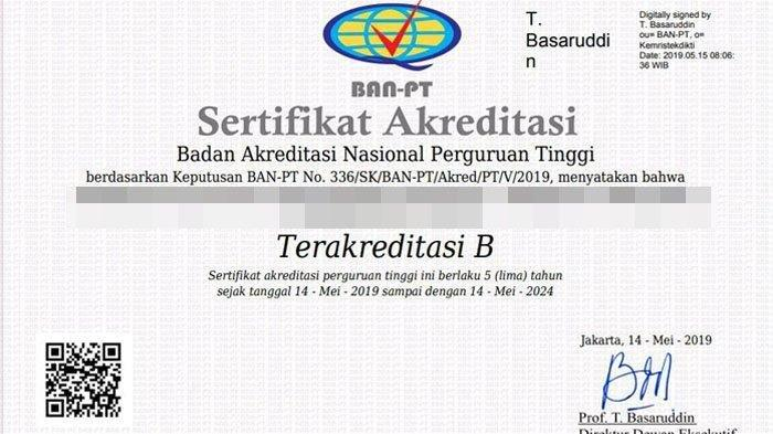 Download Dan Cetak Surat Akreditasi Ban Pt 2019 Klik Link Kampus Ugm Uns Ums Ui Uny Halaman All Tribun Jogja