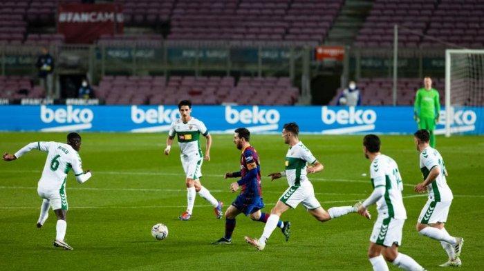Barcelona 3-0 Elche : Rating Messi, Pique, danFrenkie De Jong