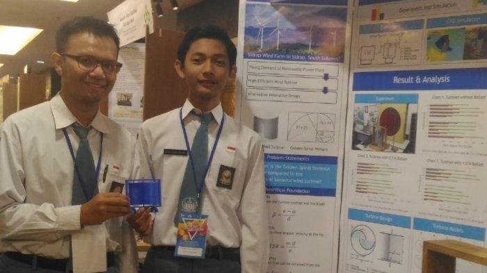 Siswa SMAN 8 Yogyakarta Kembangkan Turbin Angin Savonius Efisien berdasarkan Pola Spiral Emas
