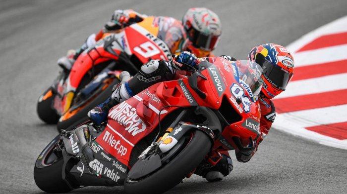 Andrea Dovizioso salip Marc Marquez ditikungan terakhir MotoGP Austria di Sirkuit Red Bull Ring, Minggu (11/8/2019)