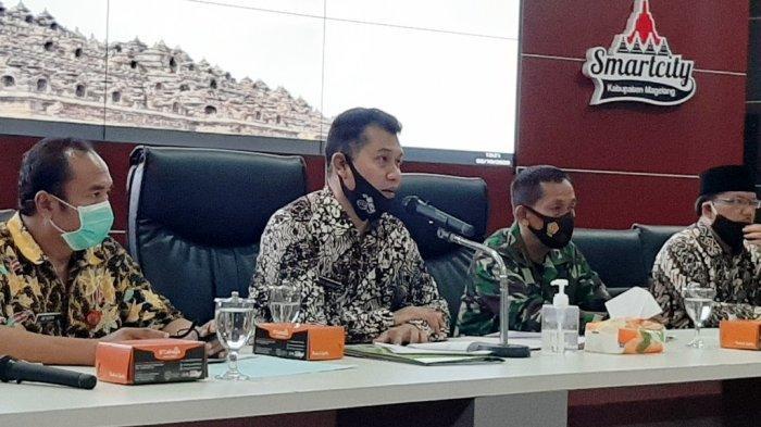 Gerakan Jateng di Rumah Saja, Sat Pol PP Kabupaten Magelang Terjunkan Personel Hingga Kecamatan
