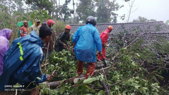 Angin Kencang di Magelang Rusak Puluhan Rumah dan Tutup Akses Jalan