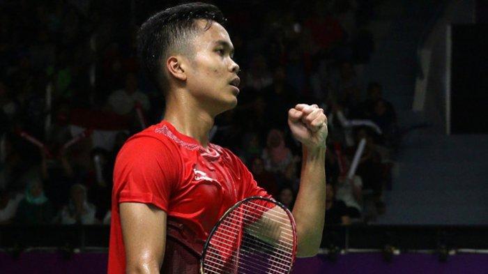 Live Streaming Bulutangkis Indonesia Vs China,Anthony Ginting Jatuh Bangun Melawan Sakit Cedera