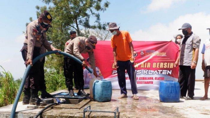 Bantuan Air Bersih bagi Desa Terdampak Kekeringan di Klaten Terus Berdatangan