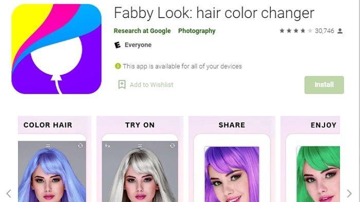 Ini 4 Aplikasi Ubah Warna Rambut Terbaik 2021