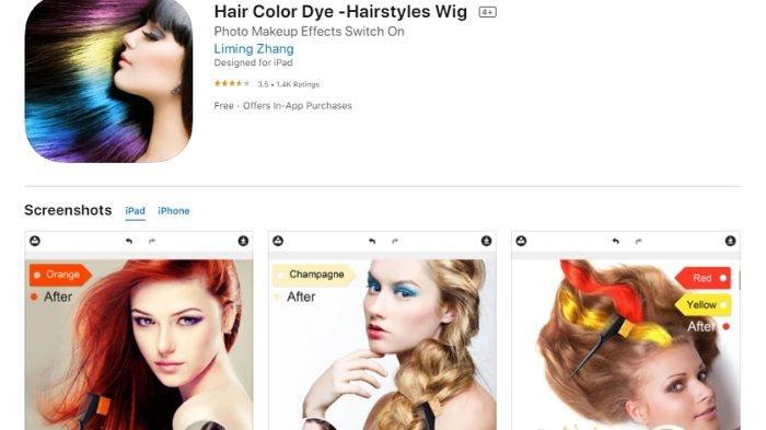 Aplikasi Hair Color Dye