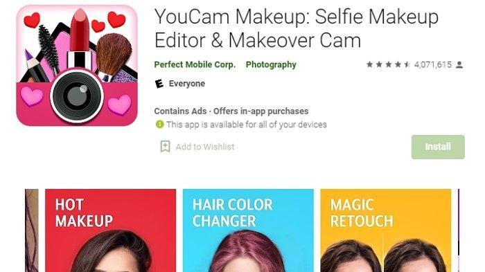 Aplikasi YouCam Makeup-Magic Selfie Cam