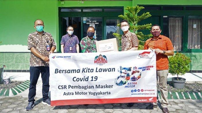 Dukung Anjuran Pemerintah, Astra Motor Bagikan 20.000 Ribu Masker kepada Masyarakat