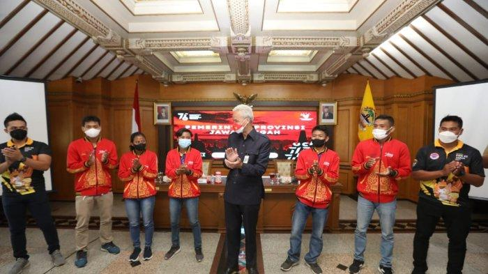 Lima atlet kick boxing yang berprestasi diundang Gubernur Jawa Tengah, Ganjar Pranowo pada Senin (27/9/2021).