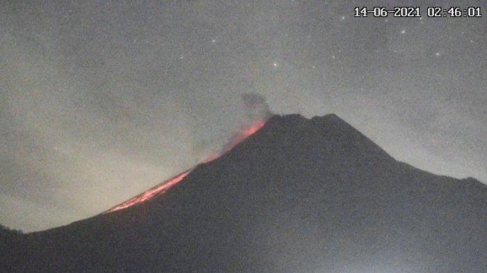 UPDATE Gunung Merapi 18 Juni 2021, Muntahkan 16 Kali Guguran Lava Pijar Dini Hari Tadi