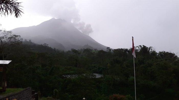 UPDATE Gunung Merapi, Awan Panas Guguran Meluncur Sejauh 1,4 Kilometer Sore Ini