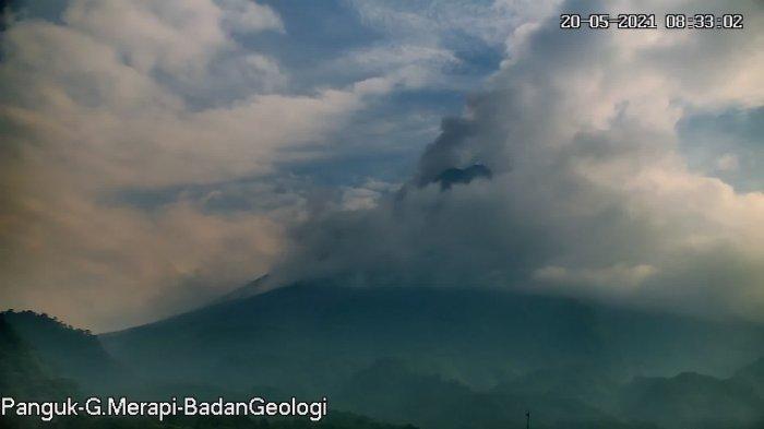 UPDATE Gunung Merapi 20 Mei 2021, Awan Panas Guguran Pagi Ini Jarak Luncur 1,8 Kilometer