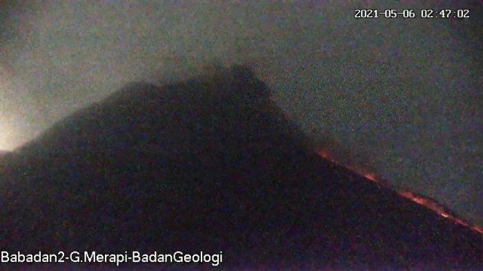 UPDATE Gunung Merapi 6 Mei 2021, Alami 2 Awan Panas Guguran dan 17 Guguran Lava Pijar Pagi Ini