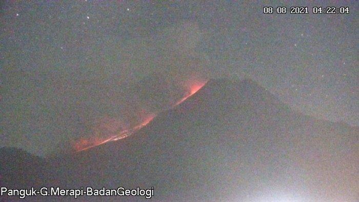 Minggu Pagi Ini Gunung Merapi Luncurkan 5 Kali Awan Panas Guguran, Jarak Luncur Maksimum 3 Km