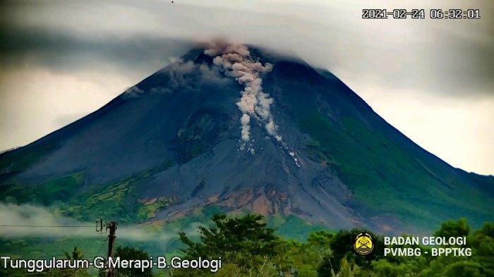 Gunung Merapi Alami Awan Panas Guguran Sejauh 800 Meter Pagi Ini, Rabu 24 Februari 2021