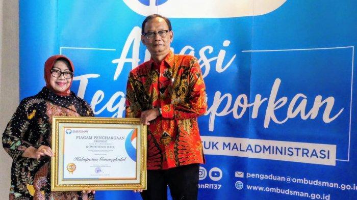Kabupaten Gunungkidul Raih Penghargaan dari Ombudsman