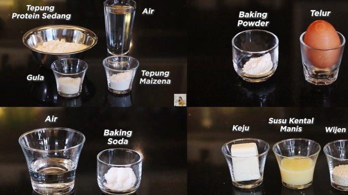 Bahan-bahan yang dibutuhkan untuk membuat martabak manis teflon rumahan