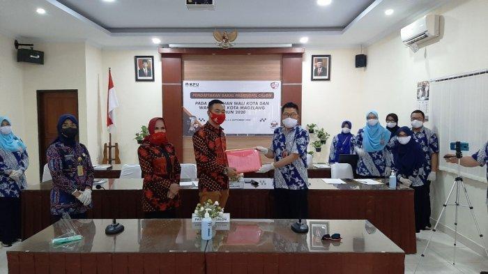 Sah, Aji-Windarti Mendaftar Bakal Calon Wali Kota dan Wakil Wali Kota Magelang