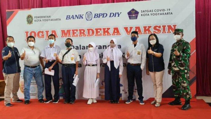Bank BPD DIY Jadi Sentra Vaksinasi Pelajar Kota Yogyakarta