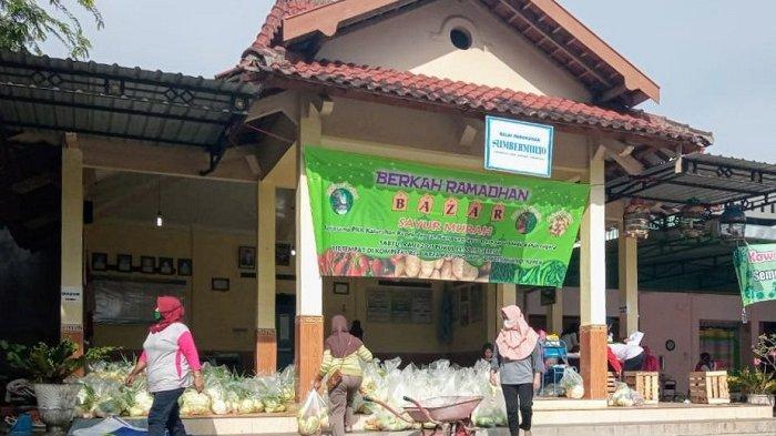Bantu Warga dan Petani, Padukuhan Sumbermulyo Kepek Gelar Pasar Ramadan, Sayur Dijual Separo Harga