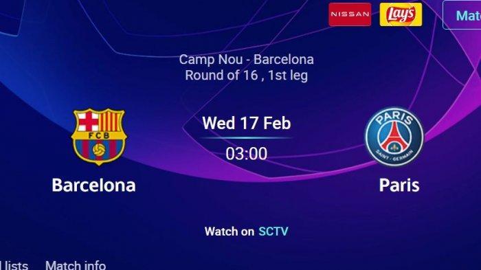 Jadwal Dan Link Streaming Barcelona Vs Psg Babak 16 Besar Liga Champions Tribun Jogja