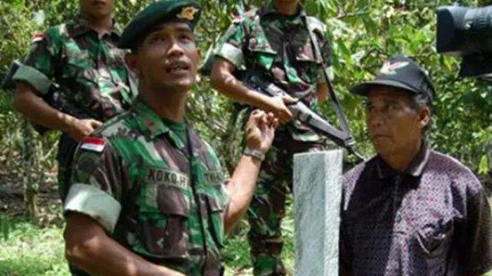 Temuan Mengejutkan TNI di Perbatasan Malaysia, Patok Batas Negara Geser 1 Km ke Arah Indonesia