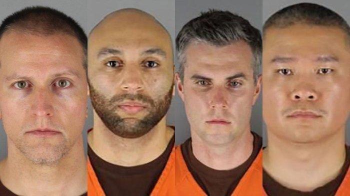 Empat mantan anggota polisi yang menjadi terdakwa pelaku pembunuhan George Floyd.