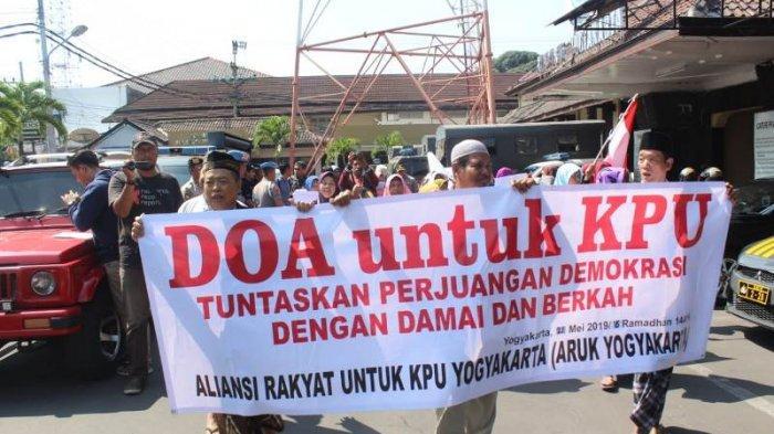 Beri Dukungan Kepada Penyelenggara Pemilu, ARUK Gelar Doa Bersama di Masjid Mapolresta Yogyakarta